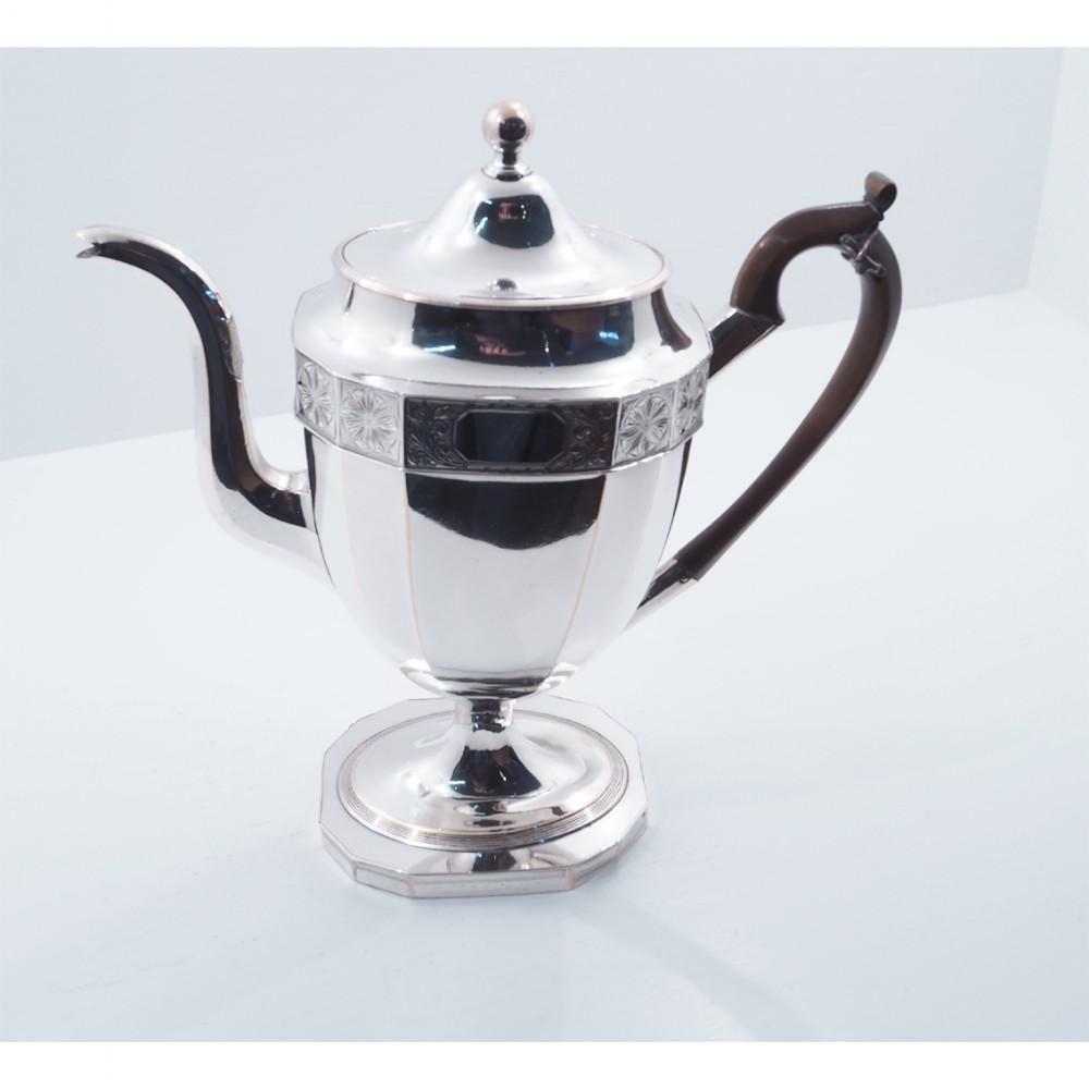 large georgian sheffield plate coffee pot