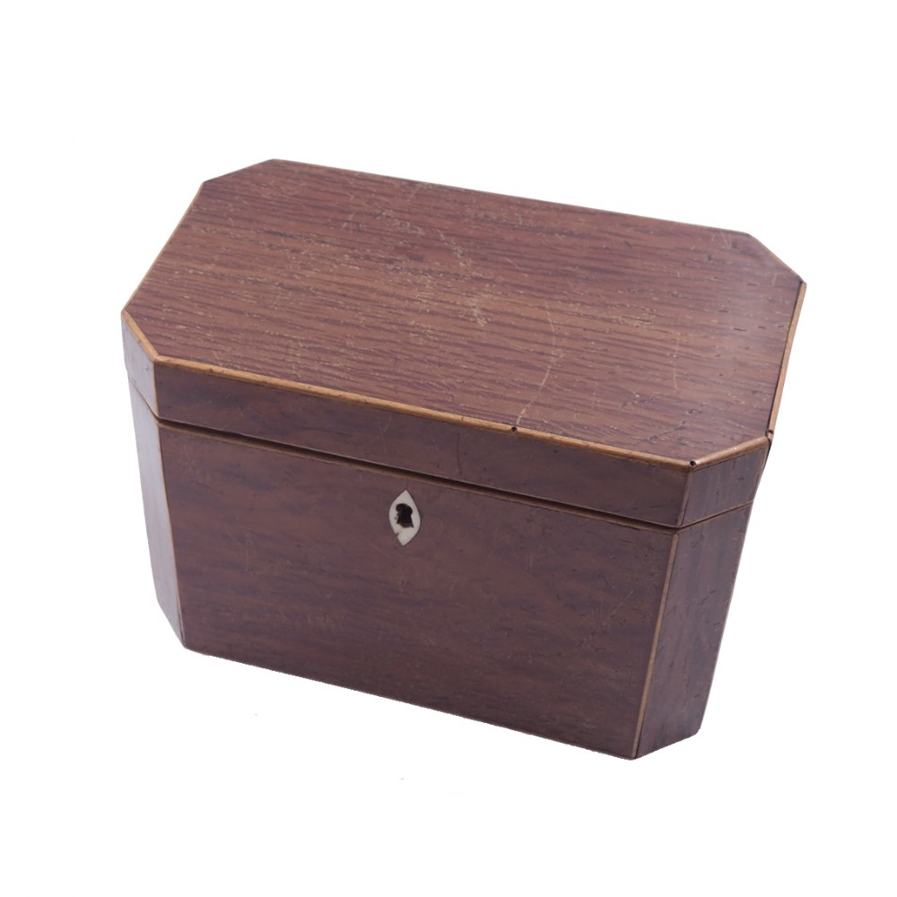 18th century partridge wood tea caddy