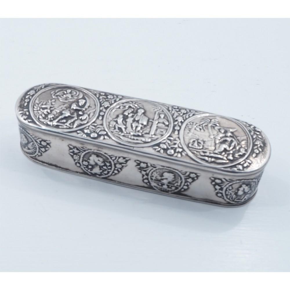 fine early dutch silver tobacco box