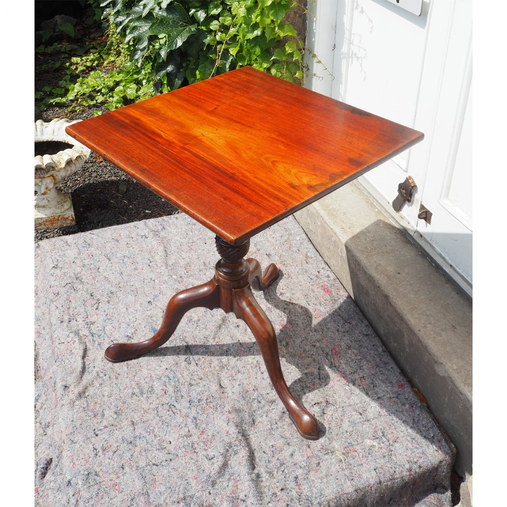 18th century diamond mahogany tripod table
