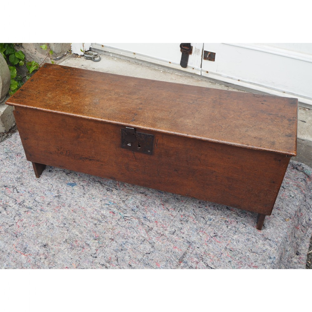 small size queen anne oak sword chest