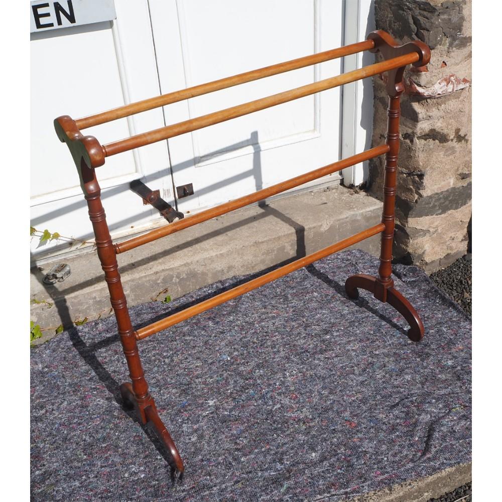 antique scottish satin birch towel rail