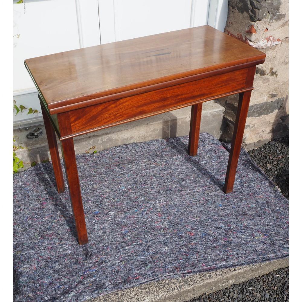 narrow 18th century mahogany tea table