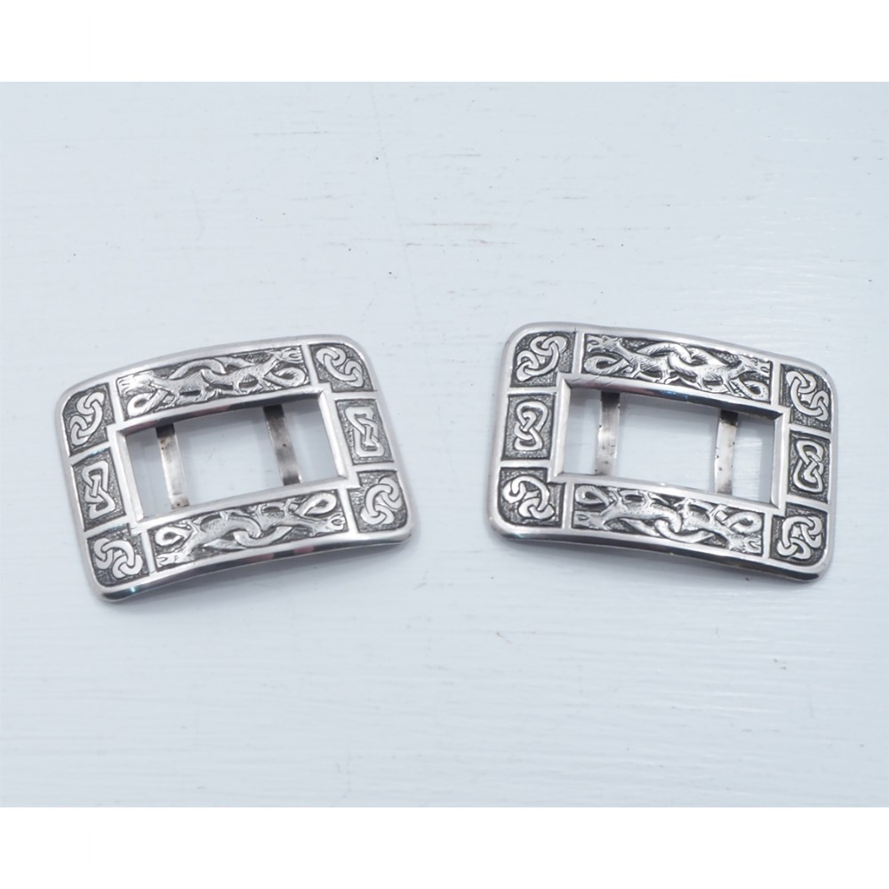 rare pair of inverness silver shoe buckles