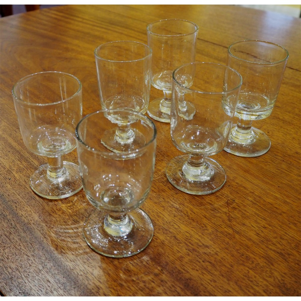 rare set of 6 early georgian pub glasses