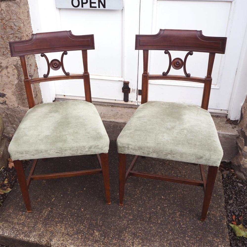 good pair georgian mahogany dining chairs