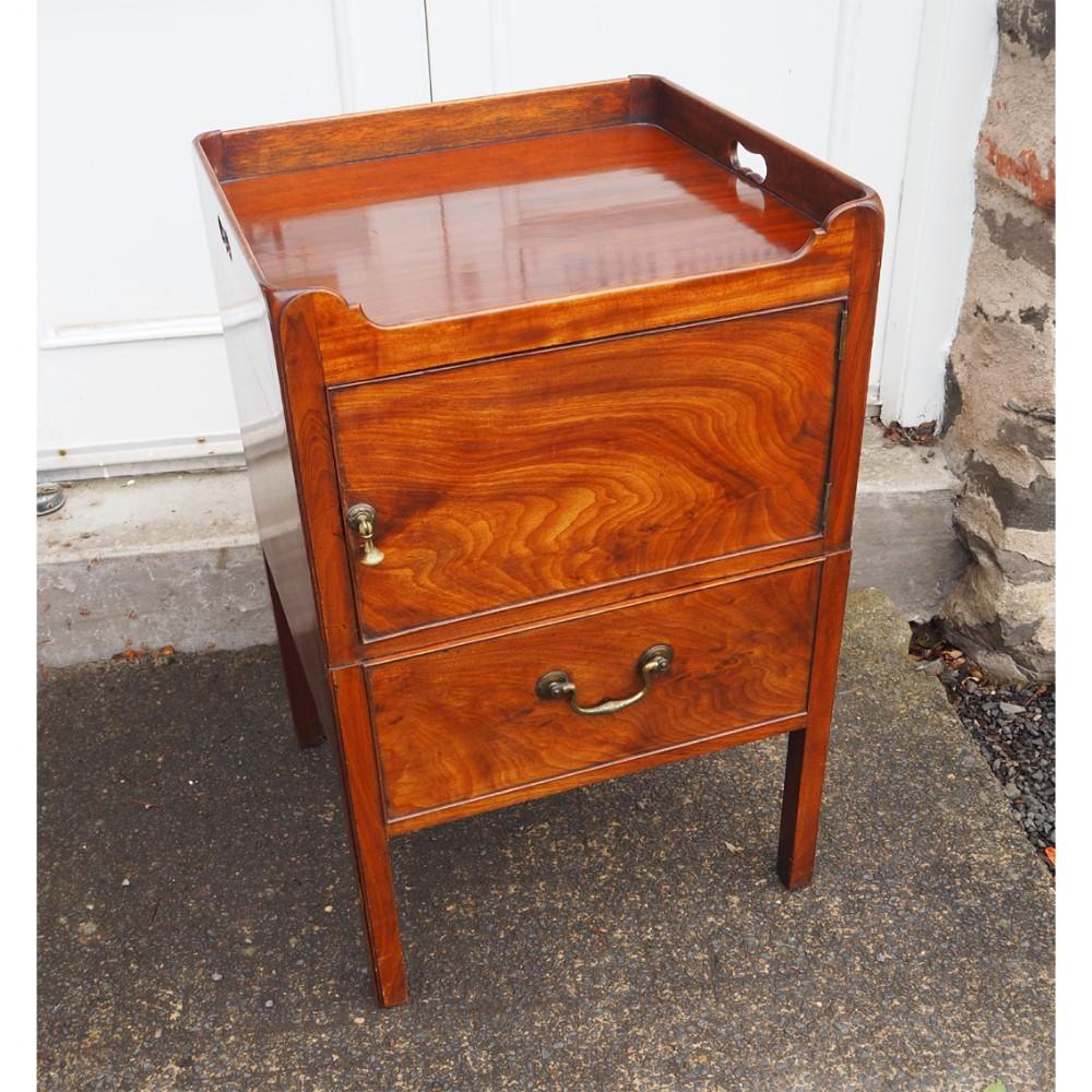fine georgian mahogany tray top commode