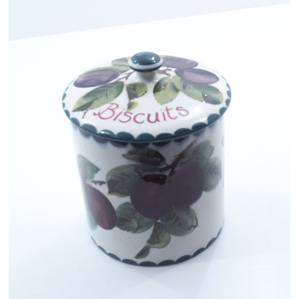 large wemyss plums biscuits barrel