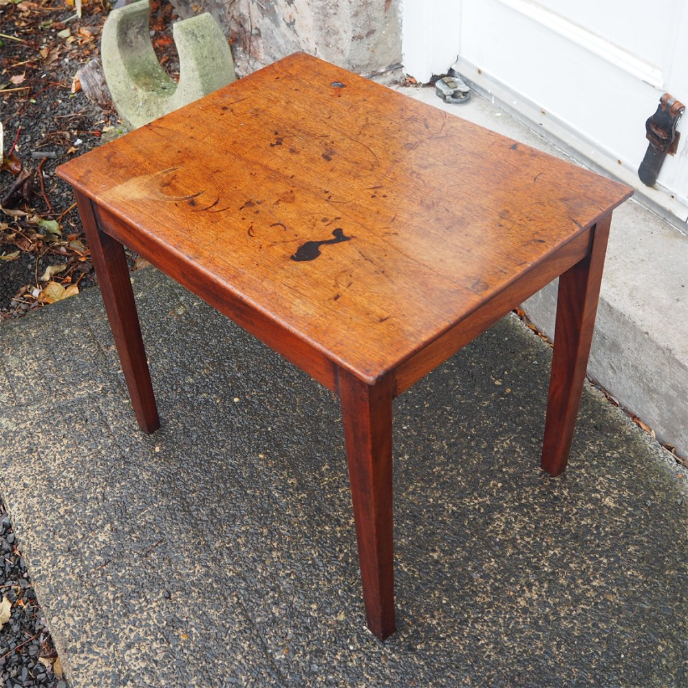georgian mahogany coffee table adapted