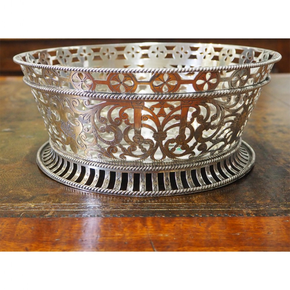stunning large edwardian silver fruit bowl