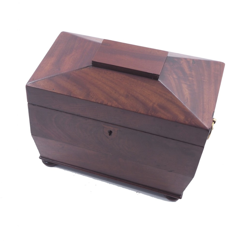 regency flame mahogany tea caddy complete