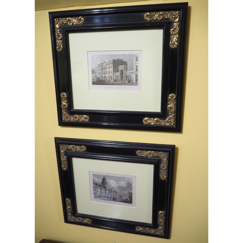 pleasing pair scottish framed etchings of edinburgh