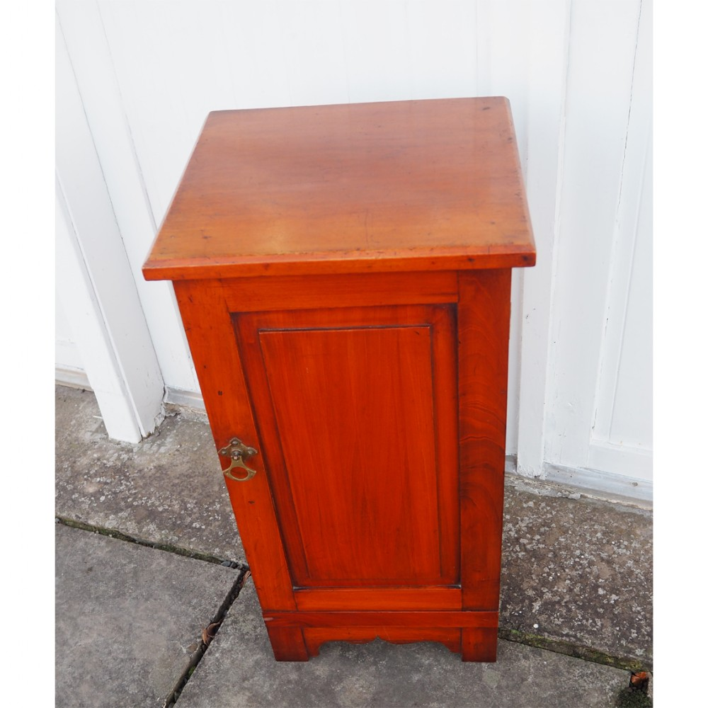 small arts crafts mahogany bedside cabinet