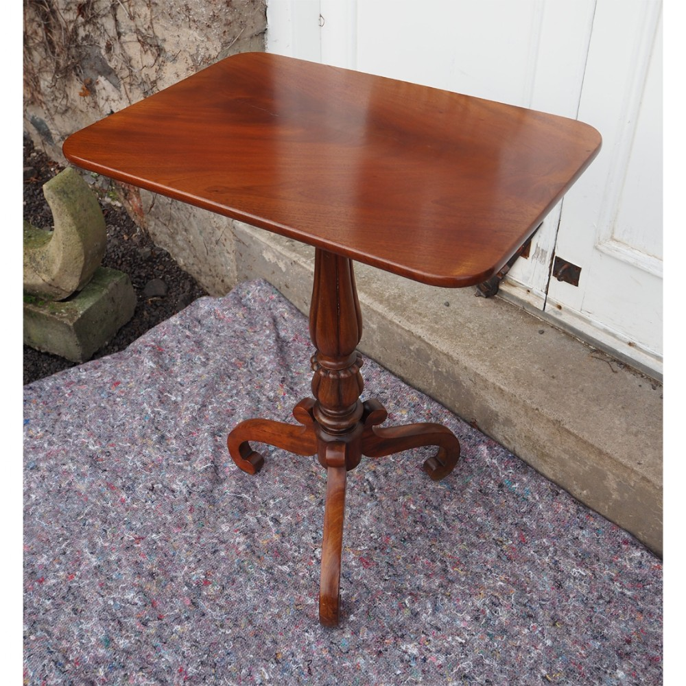 mid 19th century mahogany tripod table