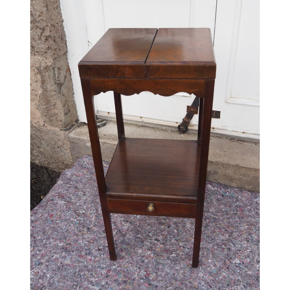 18th century mahogany square washstand