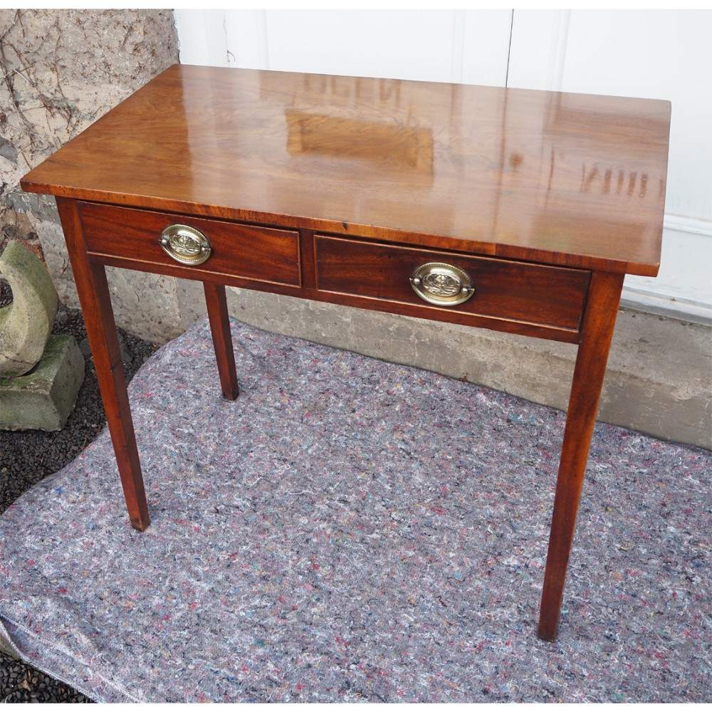 georgian mahogany 2 drawer side table