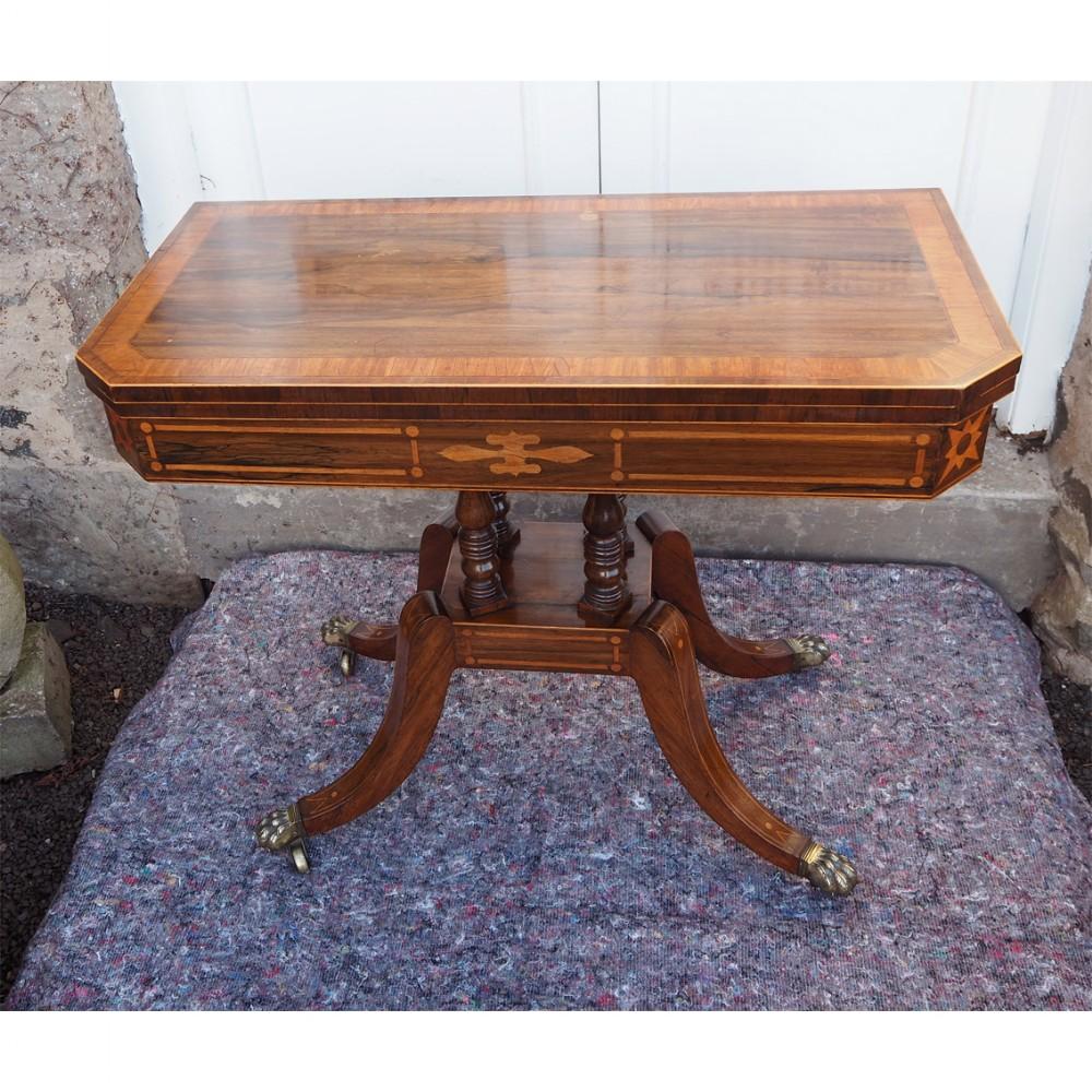 fine regency scottish rosewood card table