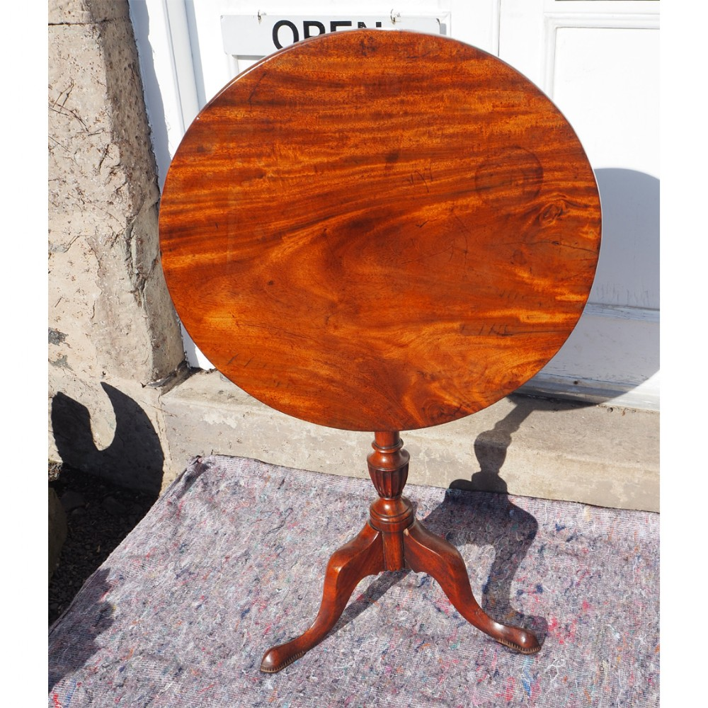 small 18th century mahogany tripod table