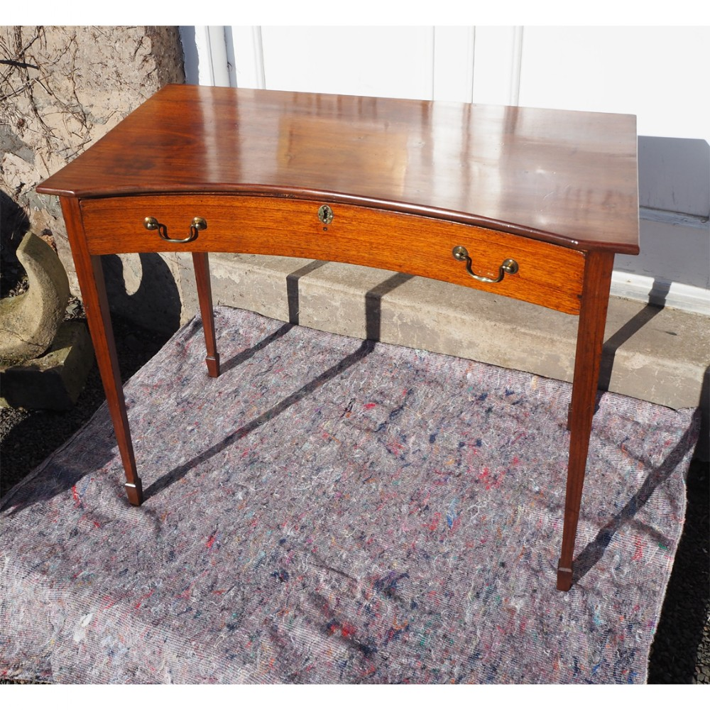 unusual georgian concave front side table