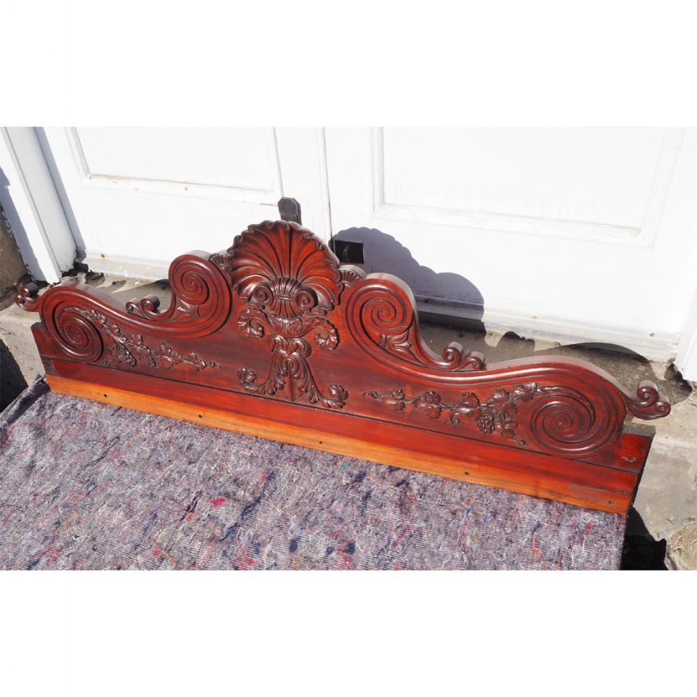 superb late regency irish mahogany carving