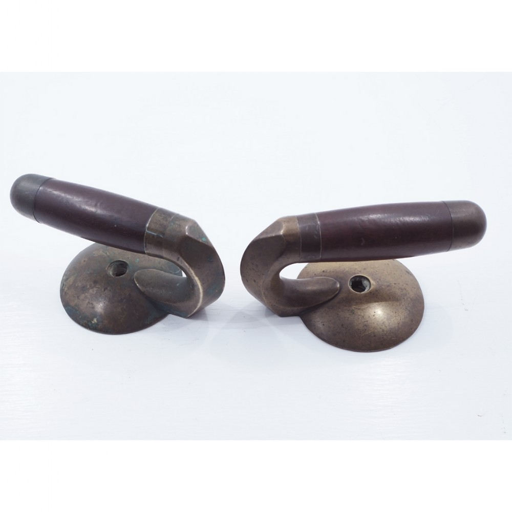good pair of early curling stone handles