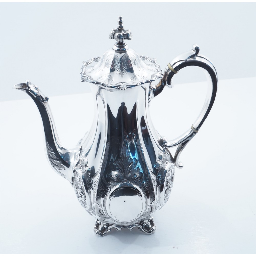 superb victorian silver plated coffee pot