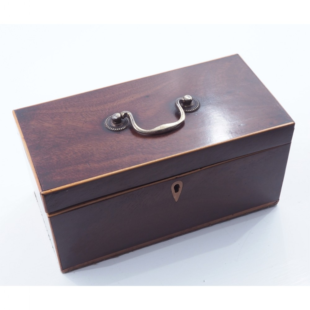 george 3rd mahogany boxwood line tea caddy