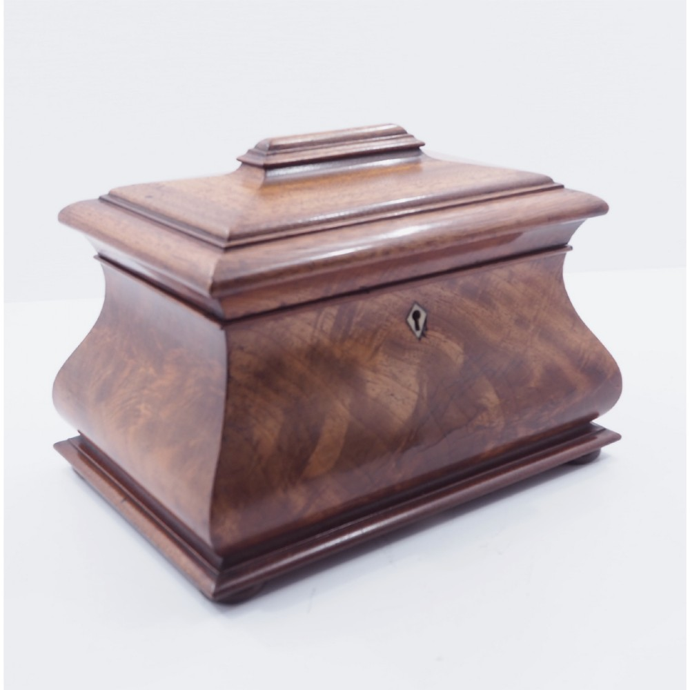 superb victorian bombe shaped tea caddy