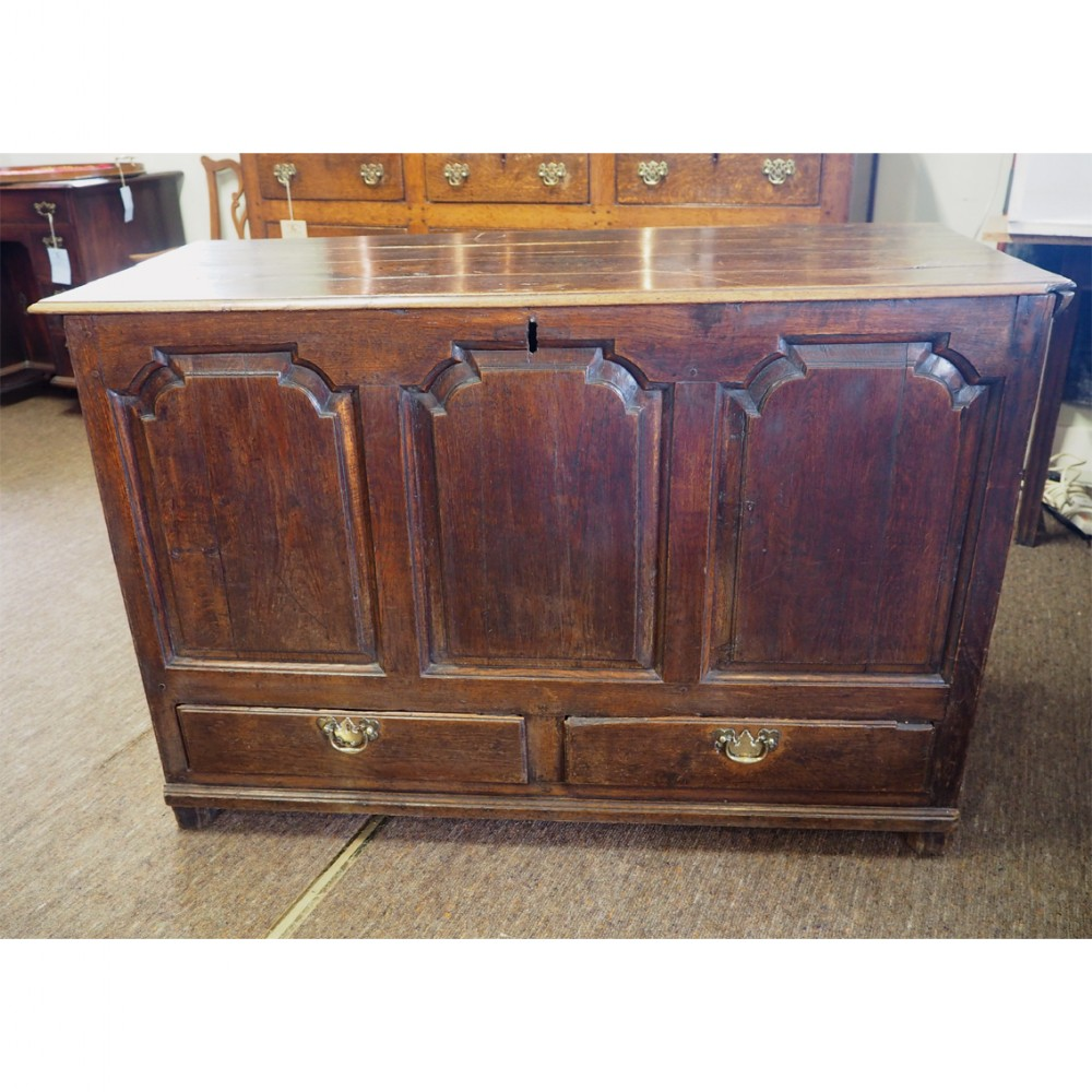 18th century oak dower chest or coffer