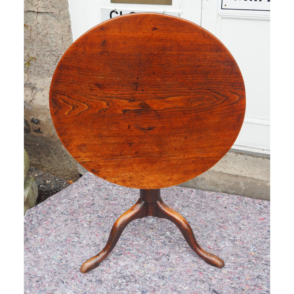 georgian elm tilt top tripod table