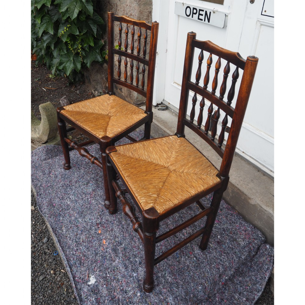 good pair of coutry spindle back chairs
