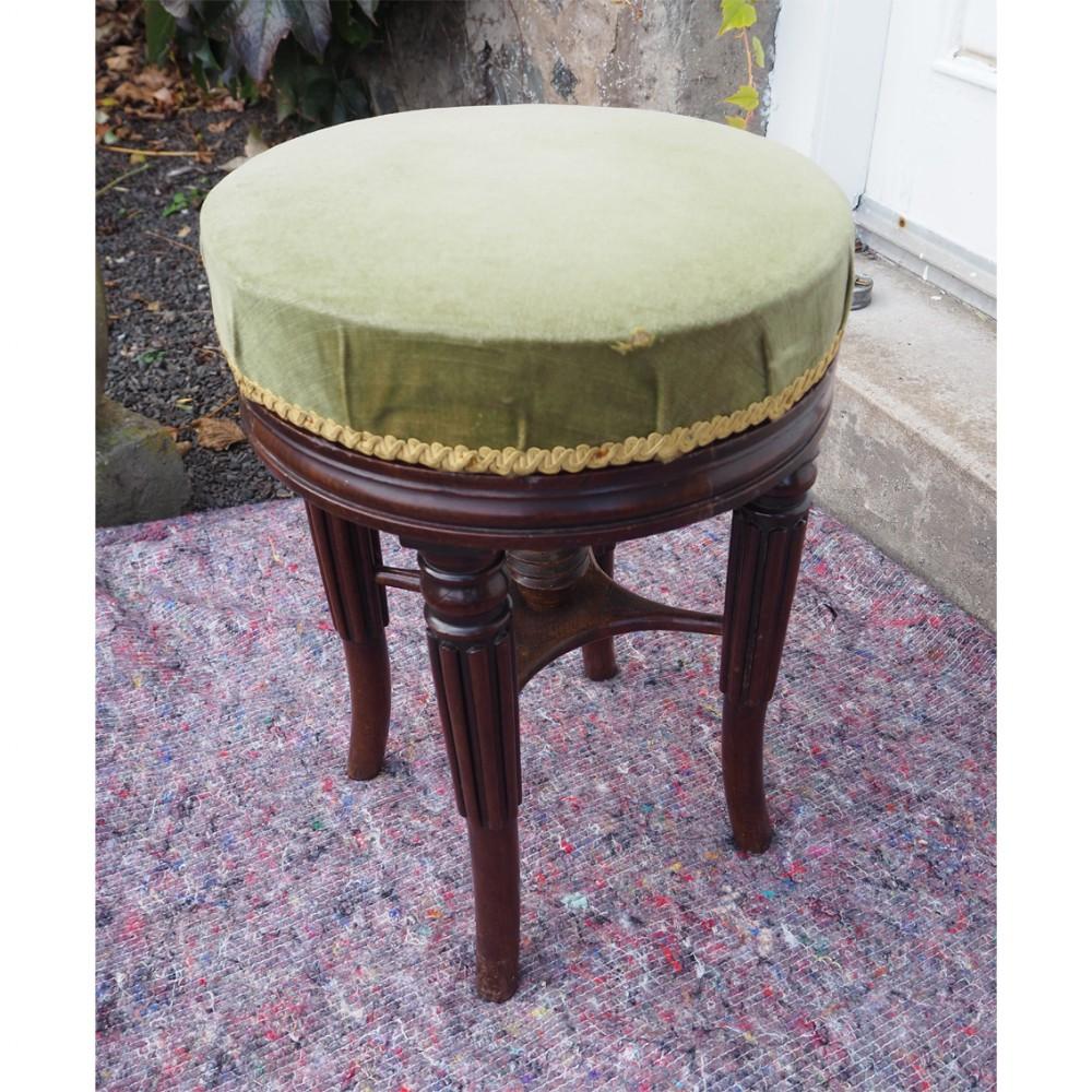 gillows adjustable mahogany piano stool