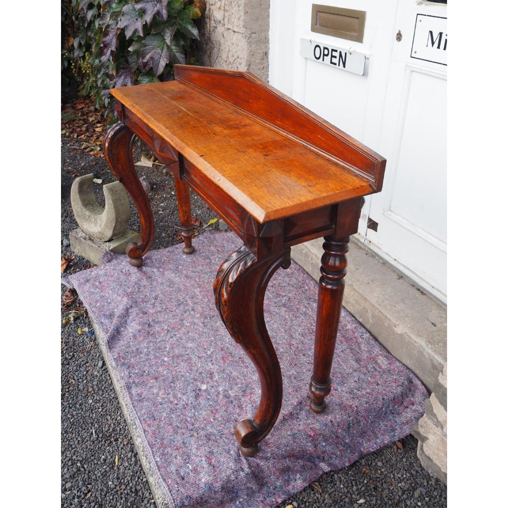 narrow scottish oak console hall table