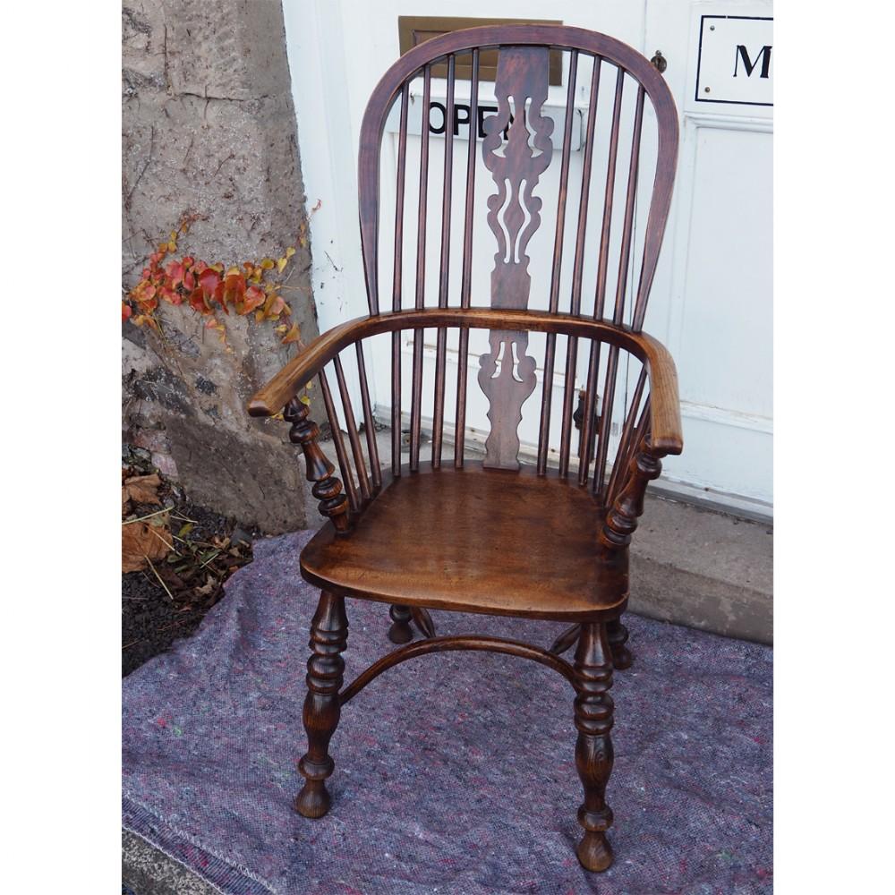 mid 19th century high back windsor chair