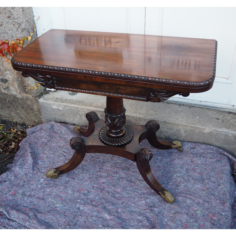 classical regency rosewood card table