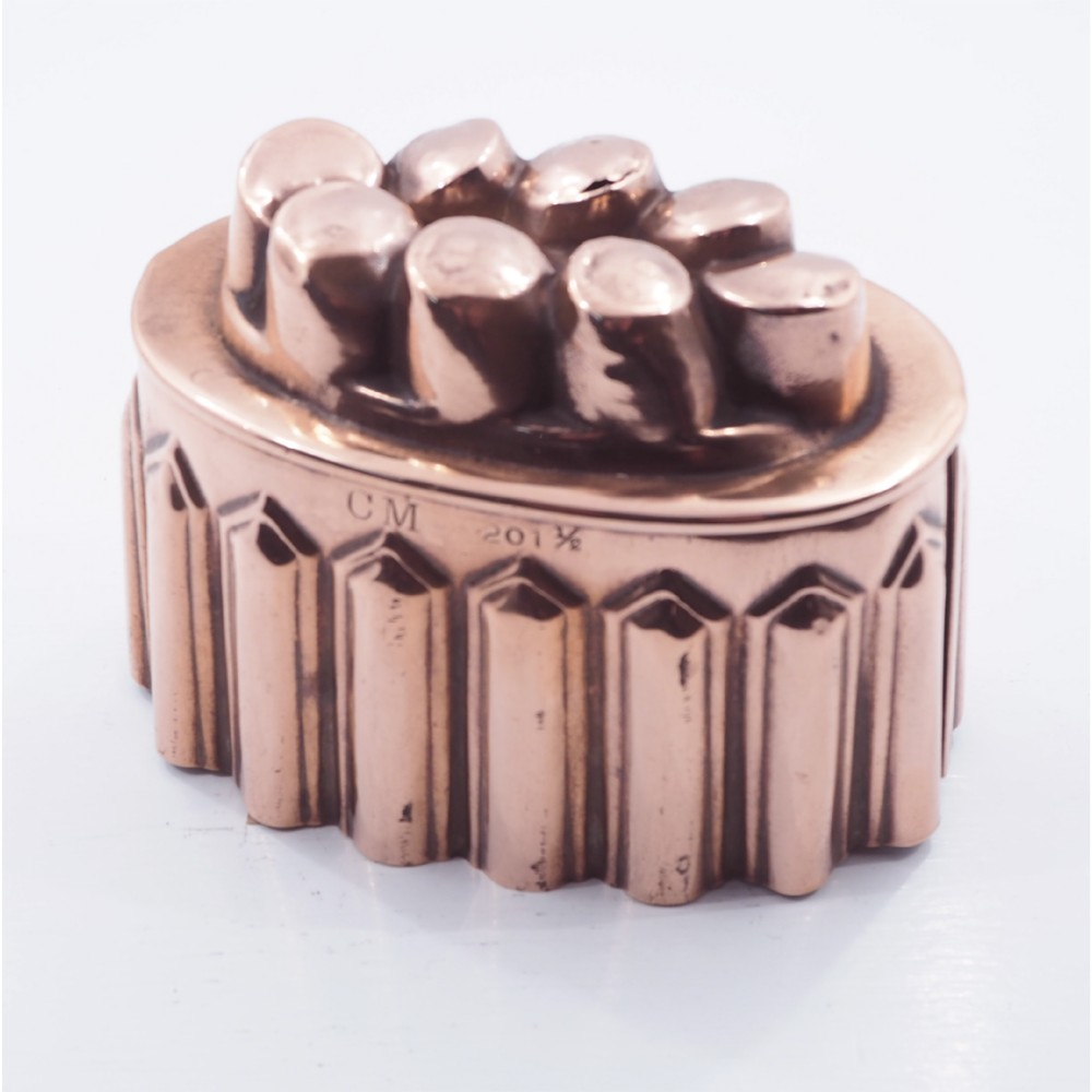 19th century copper jelly mould