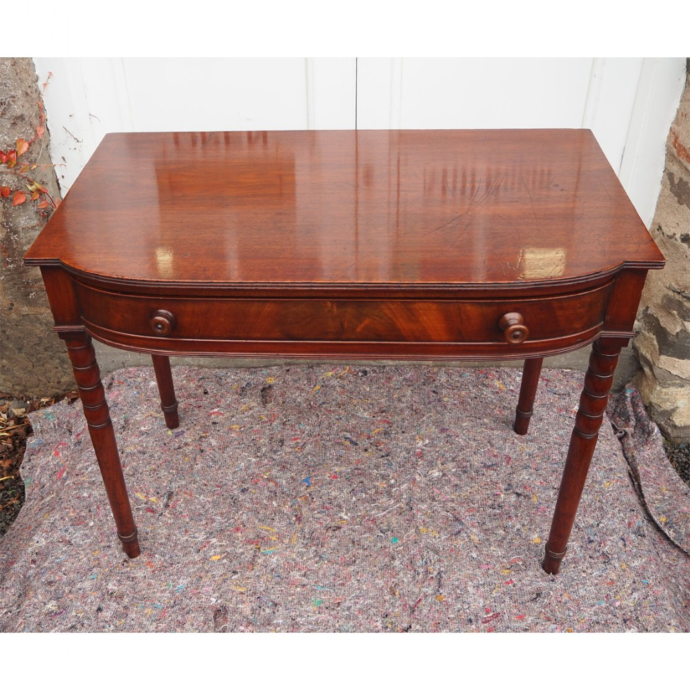 georgian mahogany bow front side table