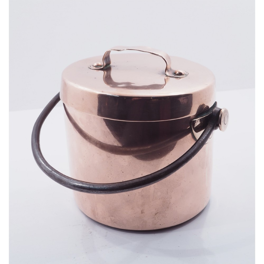 early 19th century copper cooking pot
