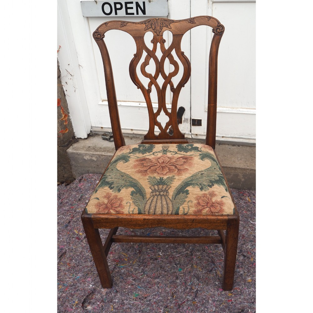 georgian chippendale walnut hand chair