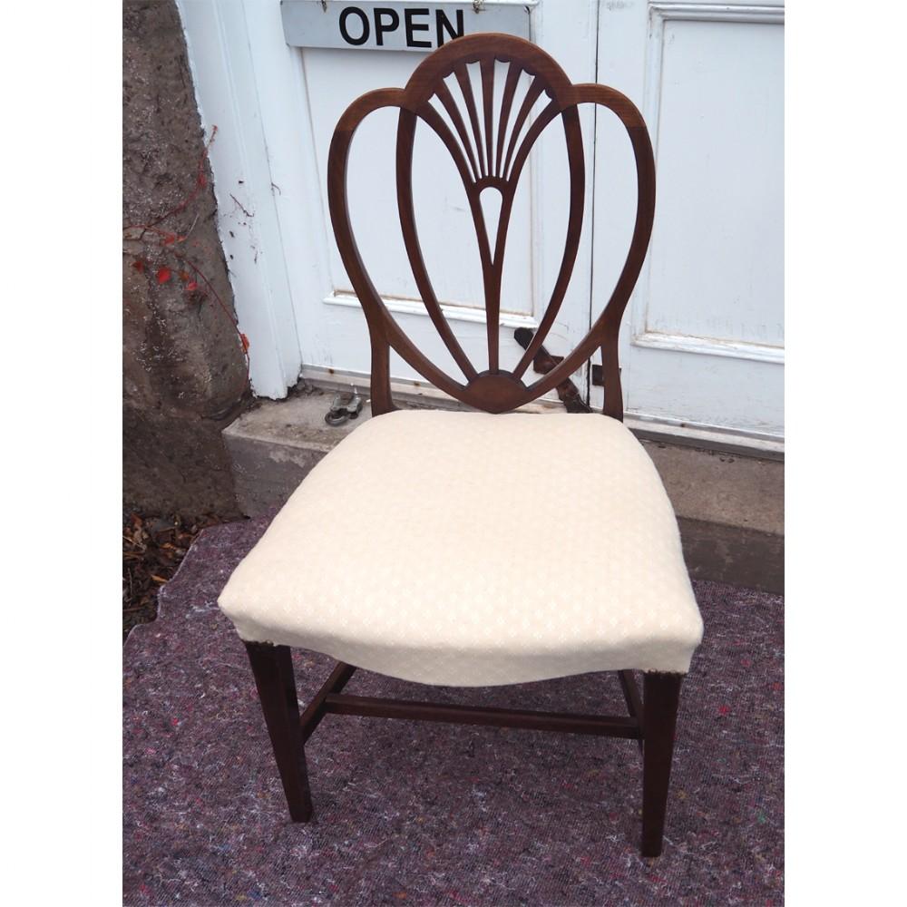 18th century hepplewhite single chair