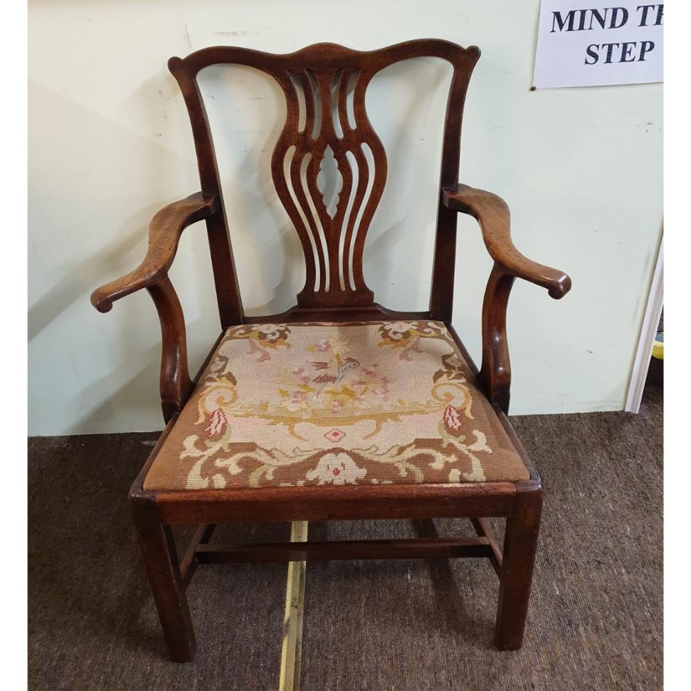 18th century walnut arm or desk chair