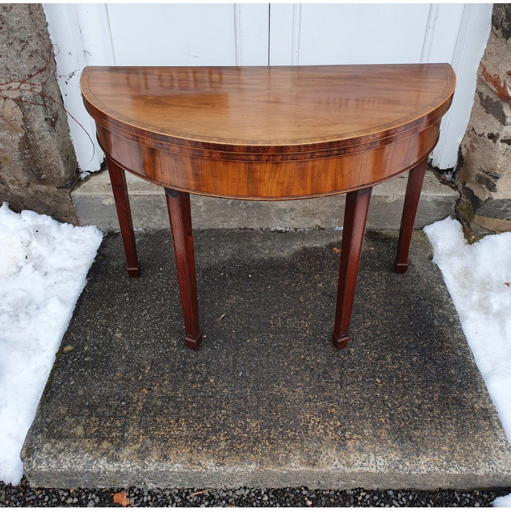 superior georgian mahogany 'd' tea table
