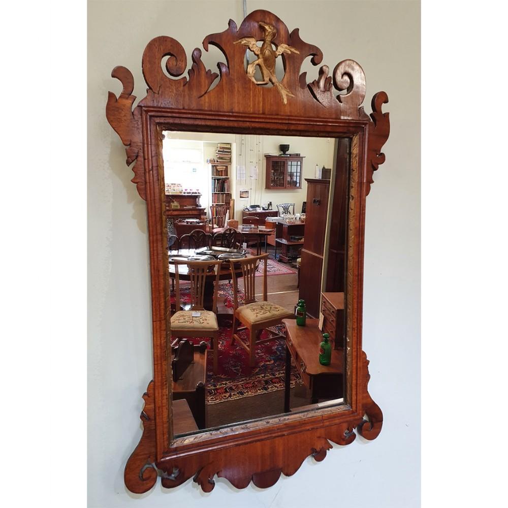 18th century walnut vauxhall wall mirror