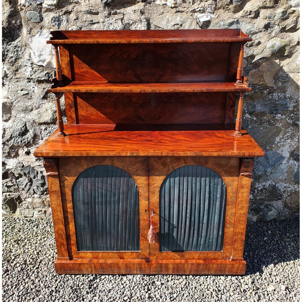 superb flame mahogany chiffioner by w c wilkinson london