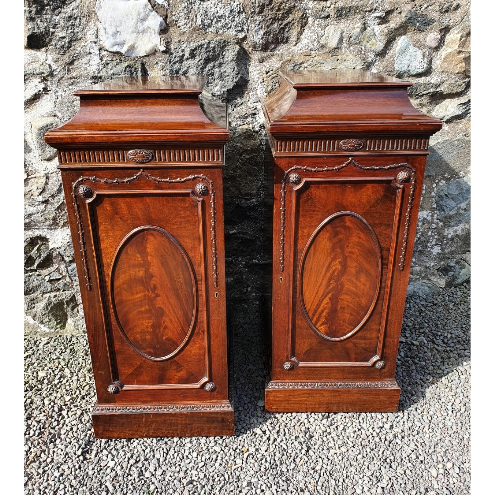 fine pair of gillows pedestal cabinets