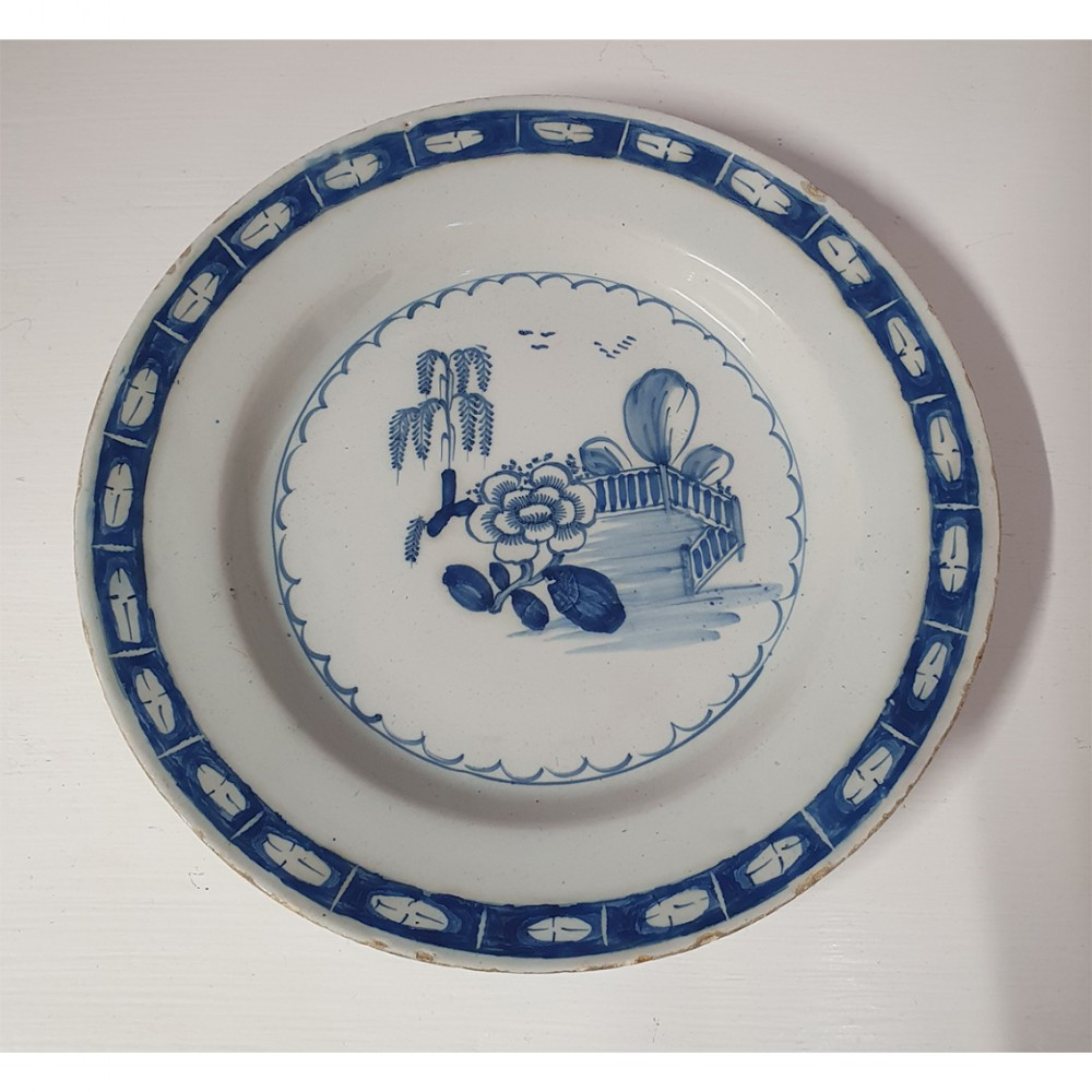 good 18th century english delft plate