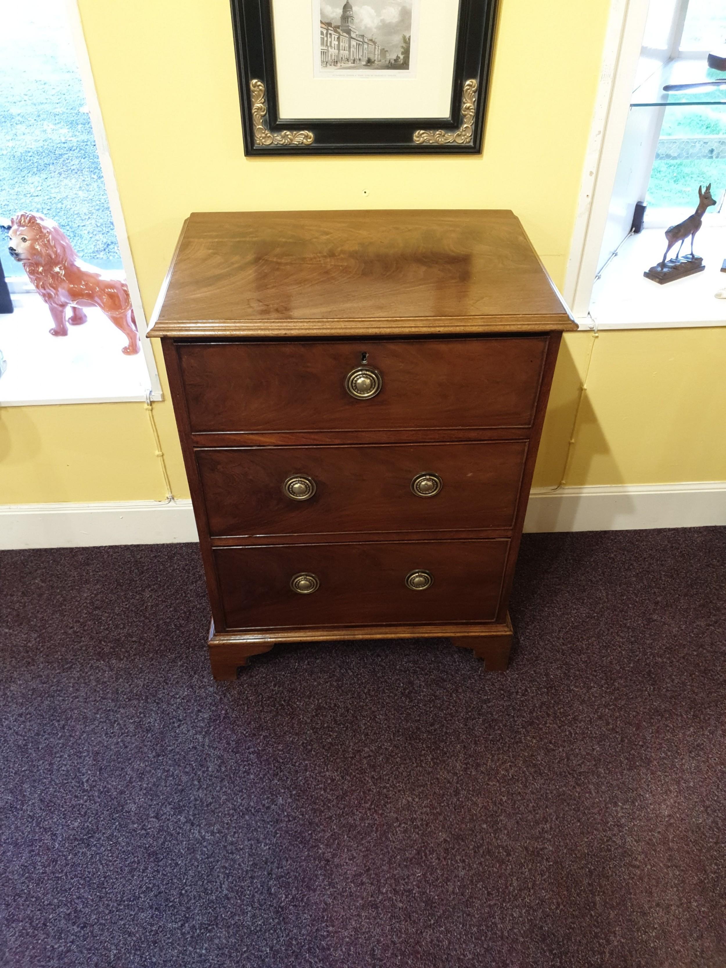 small georgian mahogany bedside chest