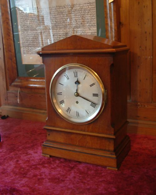 mahogany cased english fusee timepiece c 1905