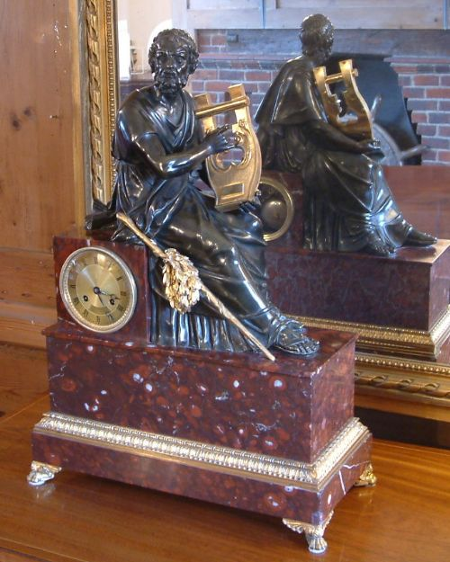 a french empire bronze mantel clock c1830