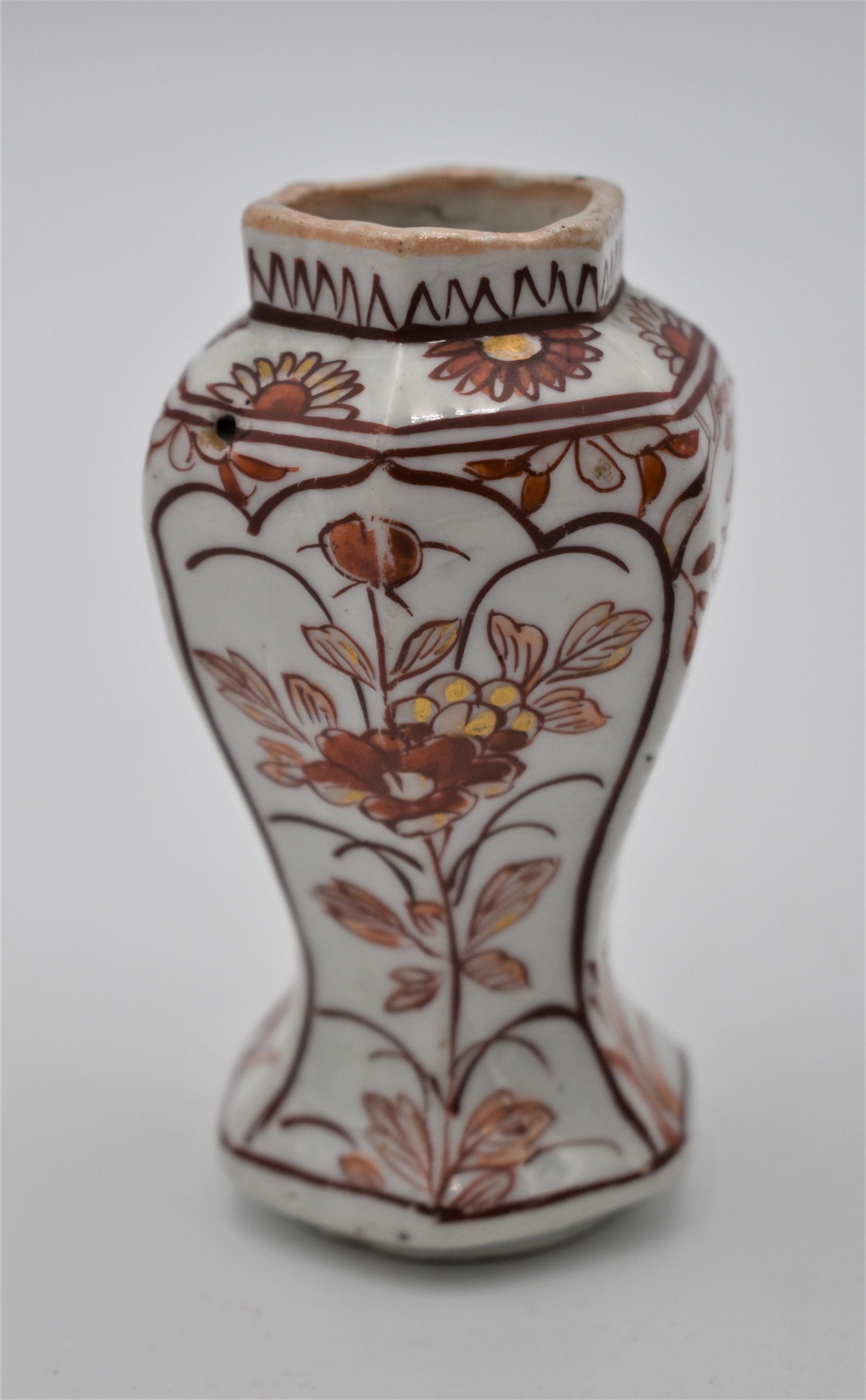 miniature chinese kangxi porcelain baluster vase